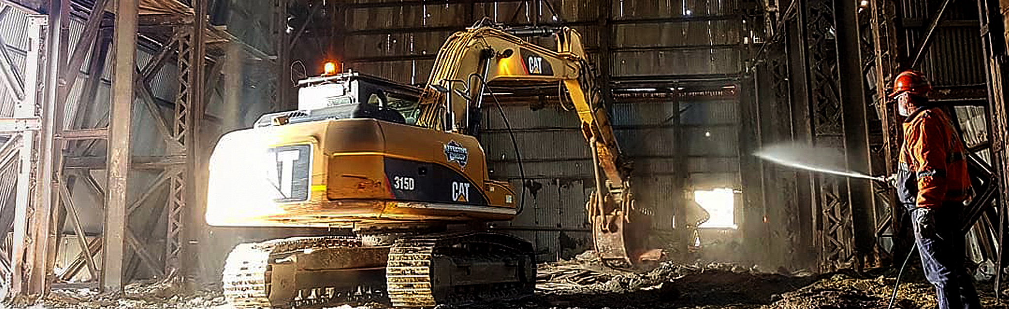 Civil earthworks machinery in NSW