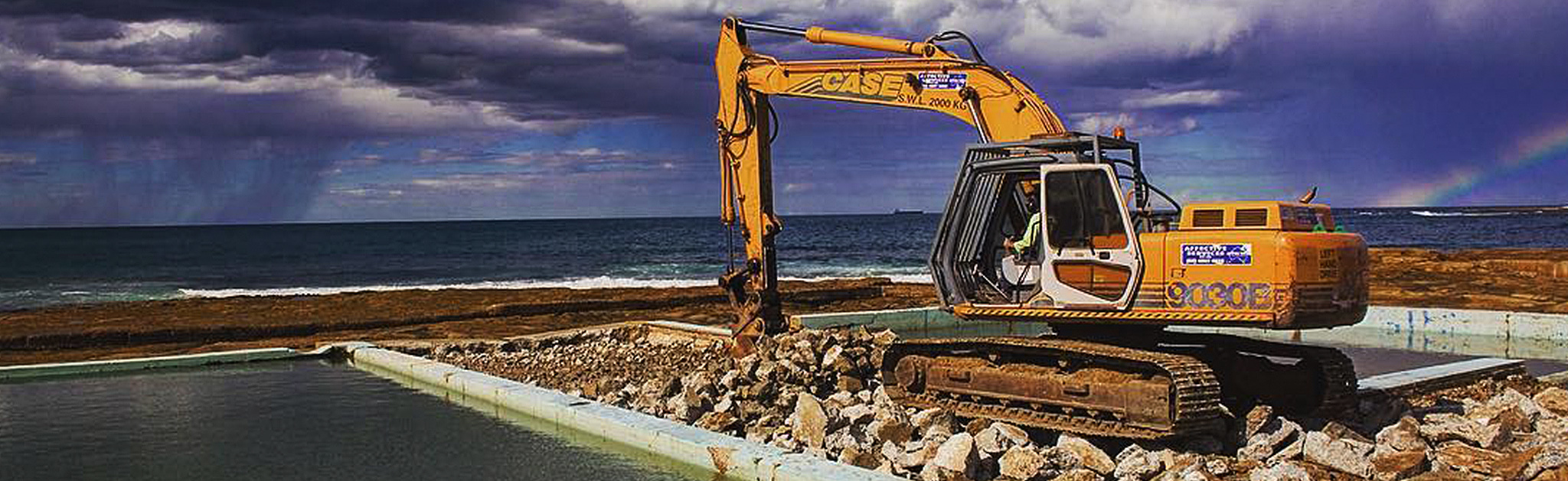 Civil works at a rock or tide pool in NSW