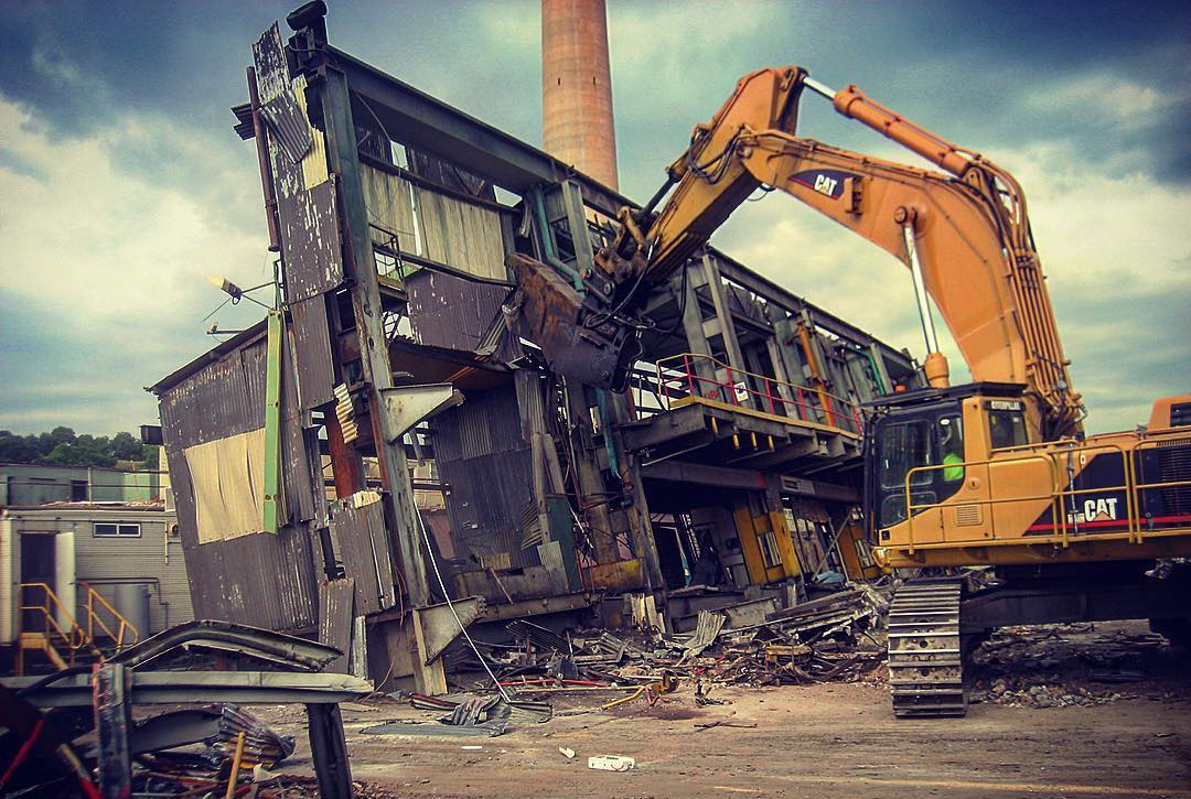 Demolition of an industrial building in NSW