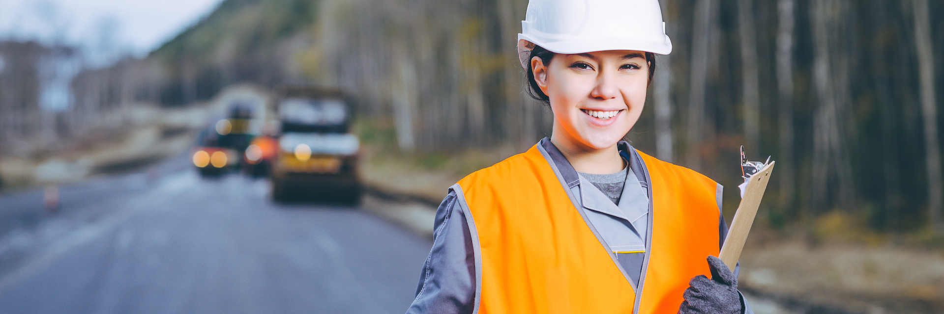 Woman working in the Civil Industry